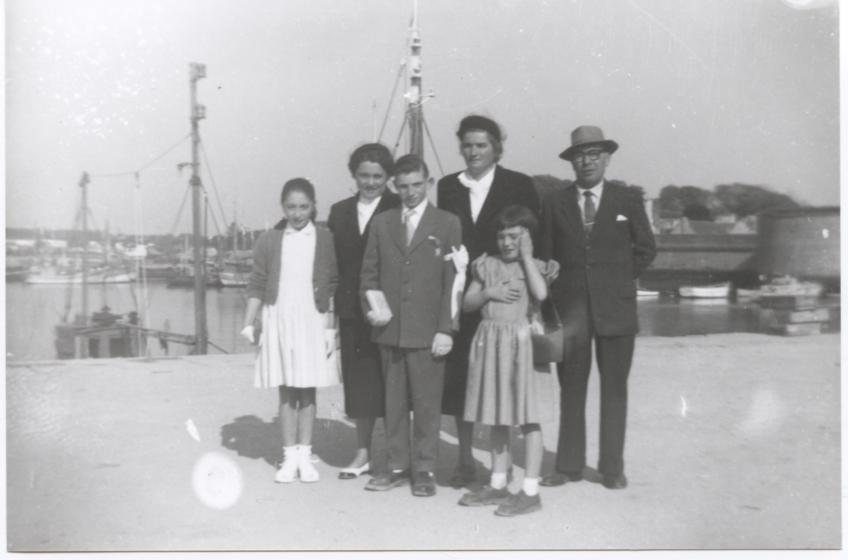 1956 communion de son fils François